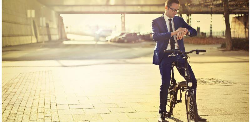 Man Cycling Bike