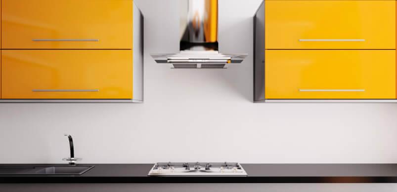 Yellow Kitchen with Cookerhood
