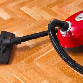 Vacuum On Wooden Floor
