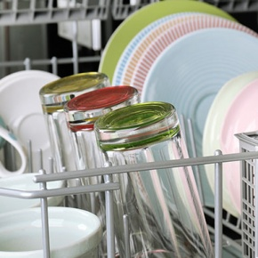 Dishwasher With Clean Crockery