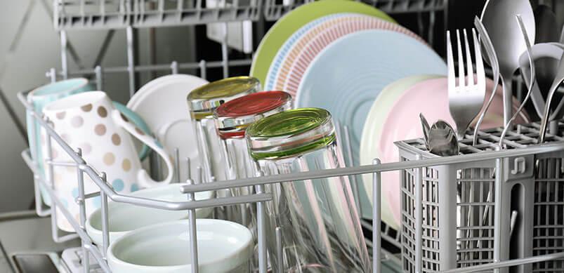 Dishwasher With Clean Crockery