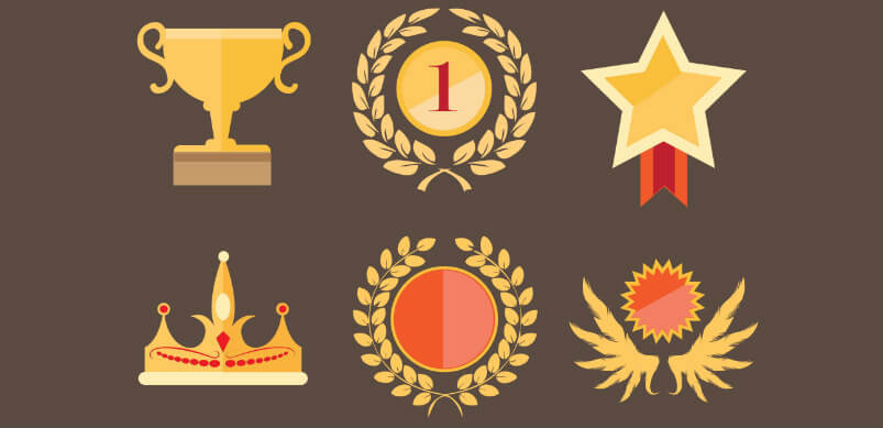 Golden Awards And Achievements Medal