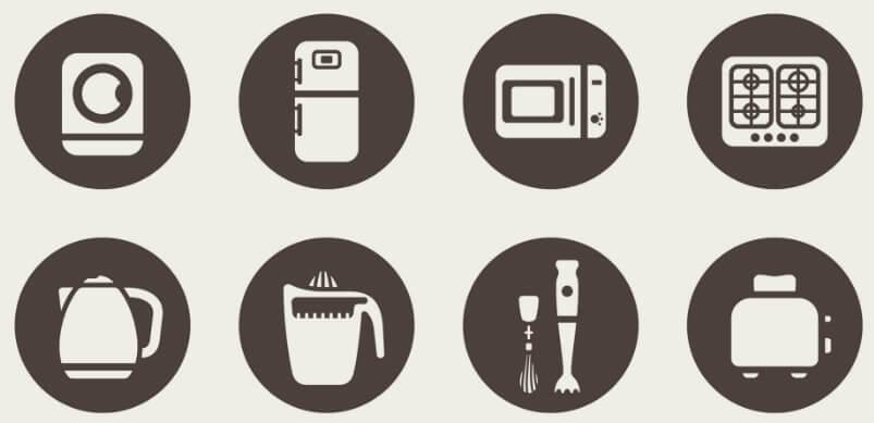 Appliances in Small Icons