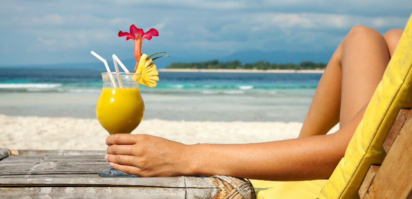 Seaside Drink With Fruits