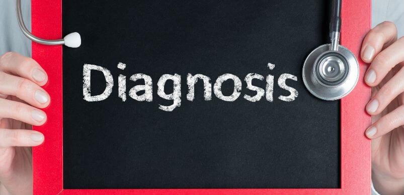 Diagnosis Writen On Chalkboard