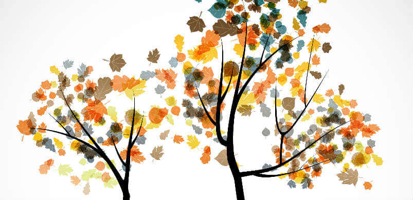 Painting Of Autumn Tree