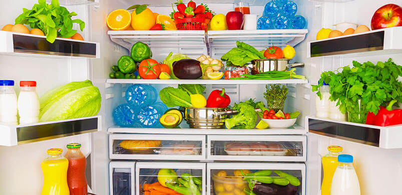 Fridge Packed With Food