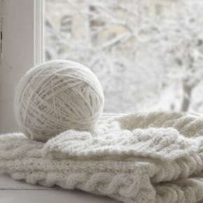 Winter Landscape With Knitting Wool