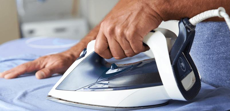 Close Up Of Ironing Shirt