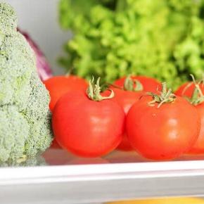 Salad And Vegetables In Fridge