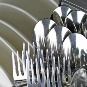 Cutlery In A Dishwasher