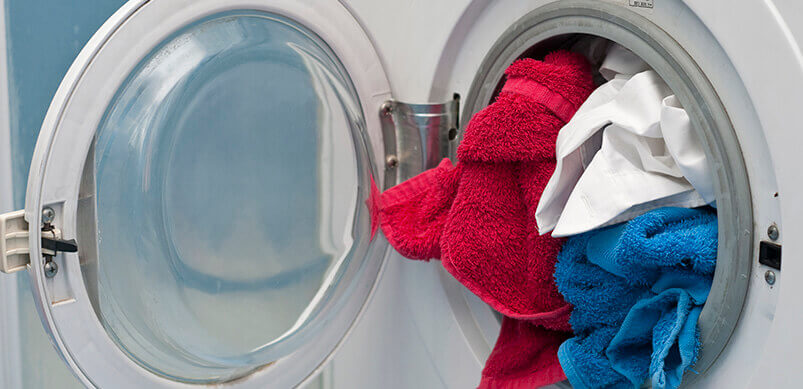 Tumble Dryer With Towels Inside