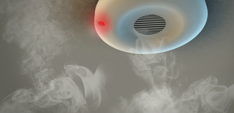 Smoke Alarm With Smoke