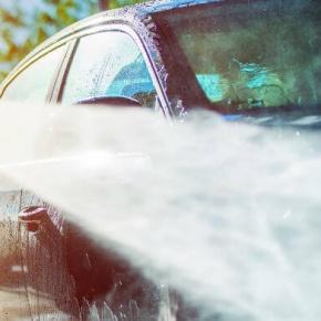 Jet Washing A Car