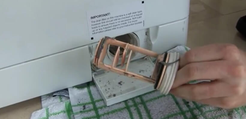 how to clean washing machine filter