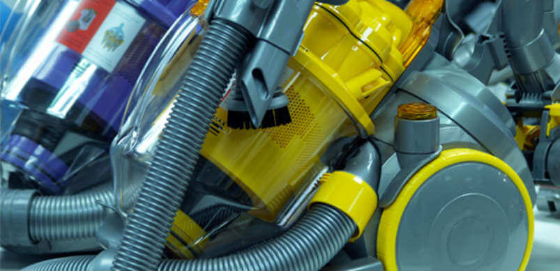 Yellow And Purple Dyson Vacuum Cleaners