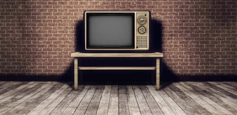 Old Tv On Tv Stand