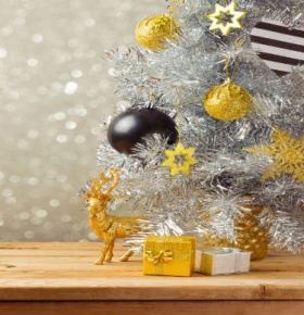 Small Tinsel Christmas Tree