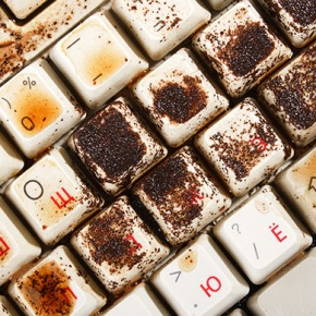 Dirty And Stained Keyboard