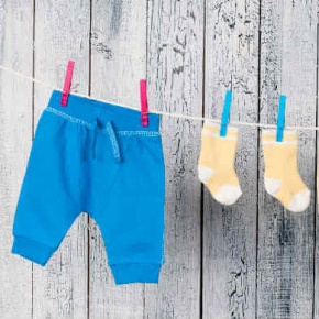 Washing Line With Kids Clothes