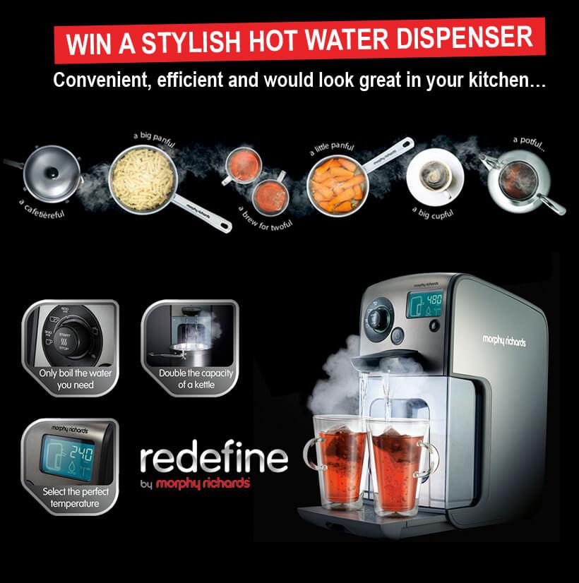 Win A Morphy Richards Hot Water Dispenser