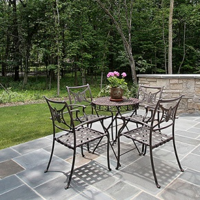 Garden Patio With Barbecue