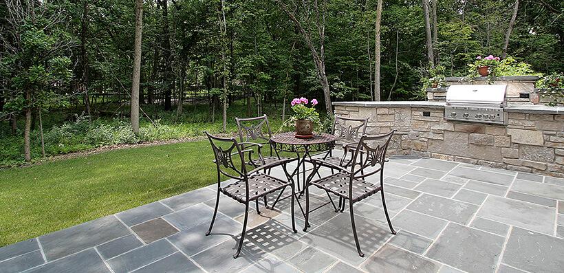 Garden Patio With Barbecue