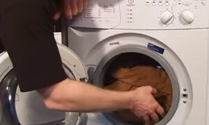 Adding A Towel To The Washing Machine