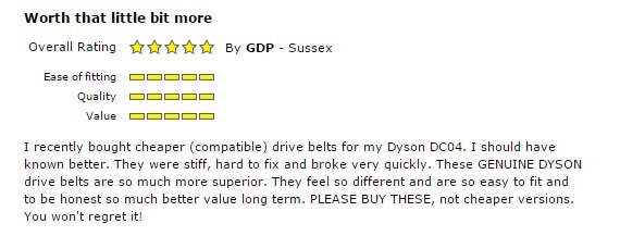 Customer With Preference For Genuine Parts