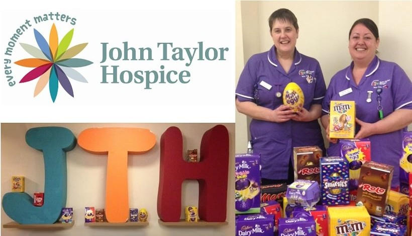 John Taylor Hospice Nurses Holding Donated Eggs