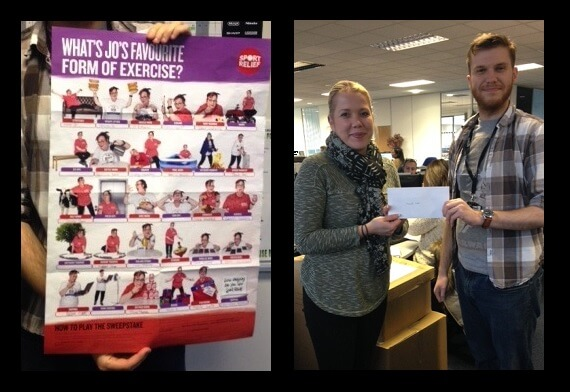 Sport Relief Sweepstake Poster And Winner