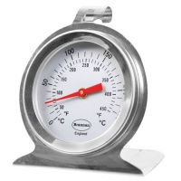 Round Silver Oven Thermometer