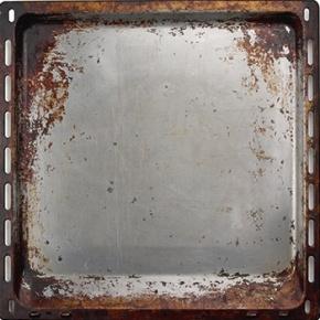 Burnt Blackened Baking Tray