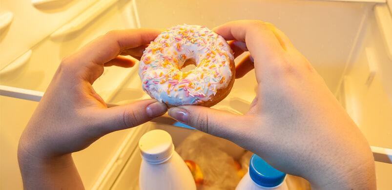 Donut Being Taken Out Of Fridge