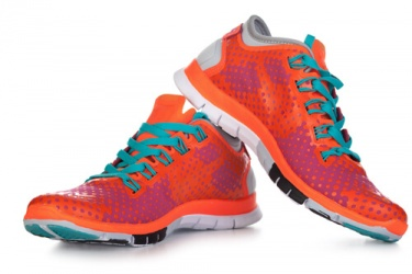 Orange And Pink Trainers