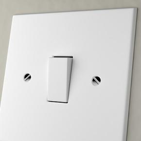White Plastic Light Switch