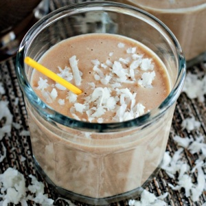 Coconut Banana And Coffee Blender Smoothie