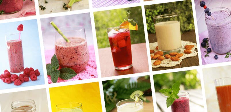 Selection of Blended Smoothies