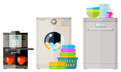 Coffee Machine Washing Machine And Dishwasher
