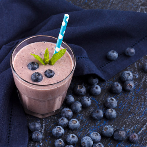 Healthy Blueberry Fruity Smoothie