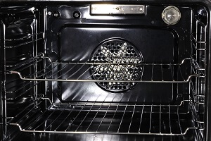 Black Fan Oven Interior