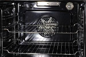Black Fan Oven Interior