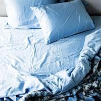 Rumpled Duvet And Pillows