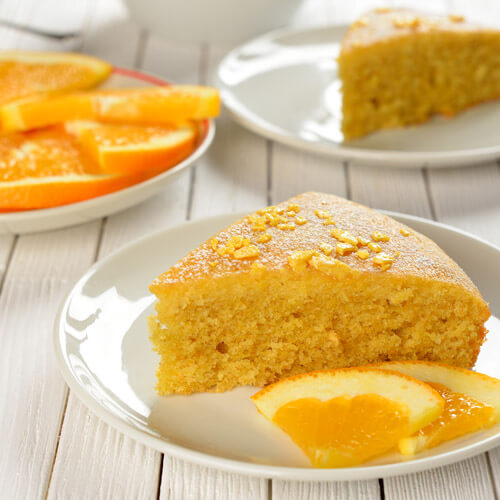 Orange Juice Cake With Orange Slices