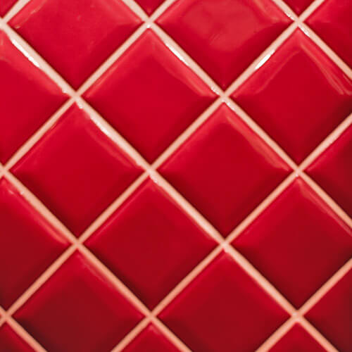 Red Square Bathroom Tiles