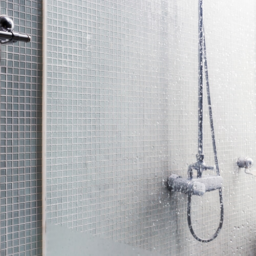 Shower Glass With Watermarks
