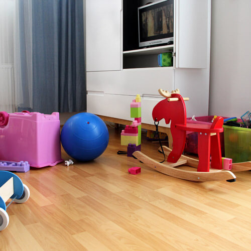 Childrens Toys on Floor