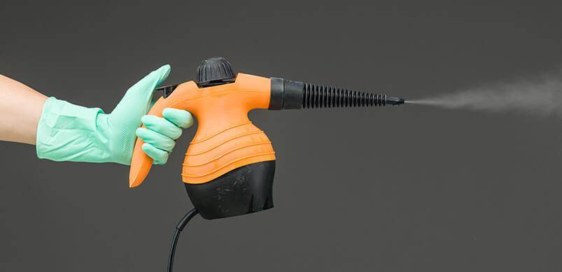 Orange Hand held Steam Cleaner
