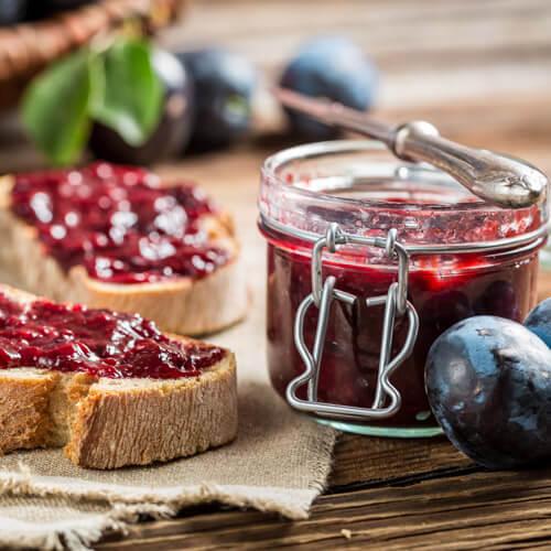 Homemade Plum Jam On Toast