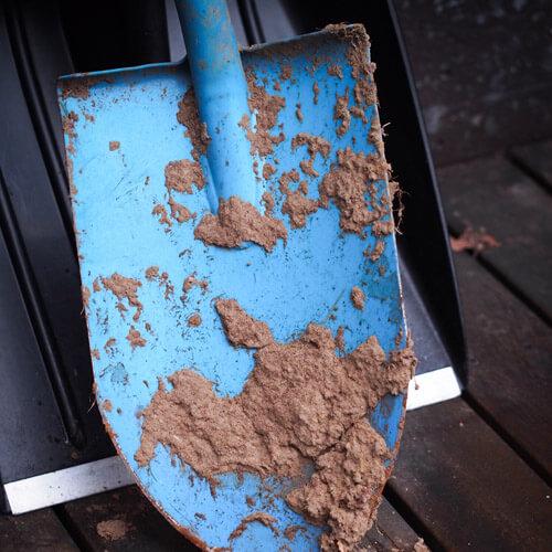 Muddy Blue Garden Spade